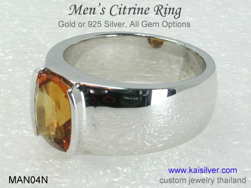 men's citrine ring