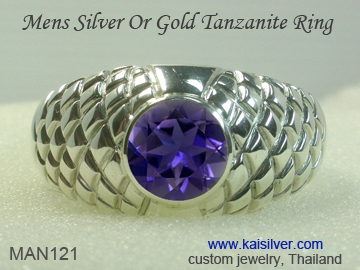tanzanite ring for men