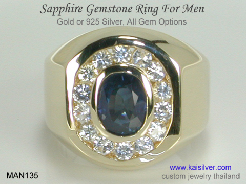 sapphire diamond ring for men