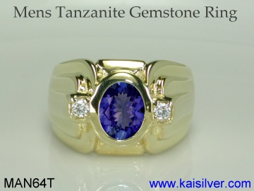 tanzanite men's rings