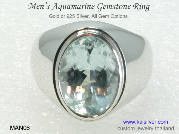 big aquamarine gemstone ring
