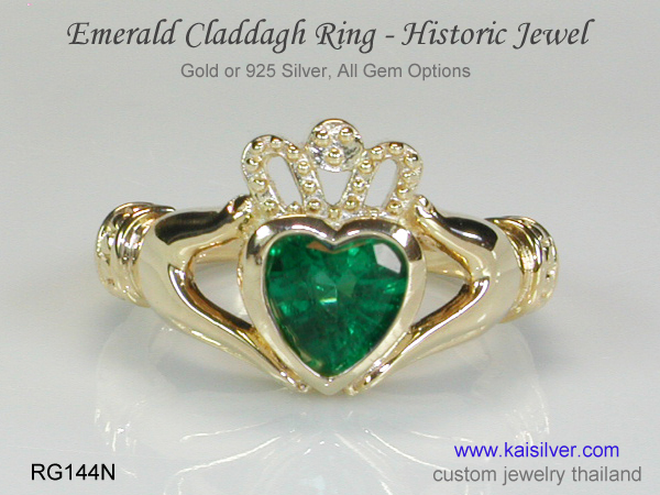 claddagh emerald ring